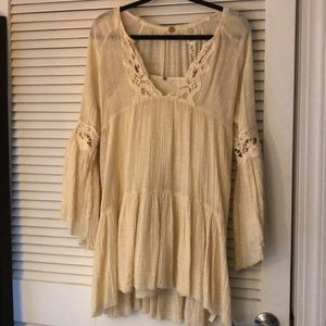 Linen tunic with slip